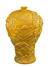 Load image into Gallery viewer, # 3704 Famille Jaune handcarved  & Shaped Vase