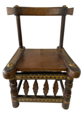 "Load image into Gallery viewer, Old Low African Chief Chair I Coast 27"" H by 21"" W"