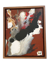 "Load image into Gallery viewer, Acrylic on Canvas Framed Abstract 21.75""By 17.75 "" Framed Signed Yjr"