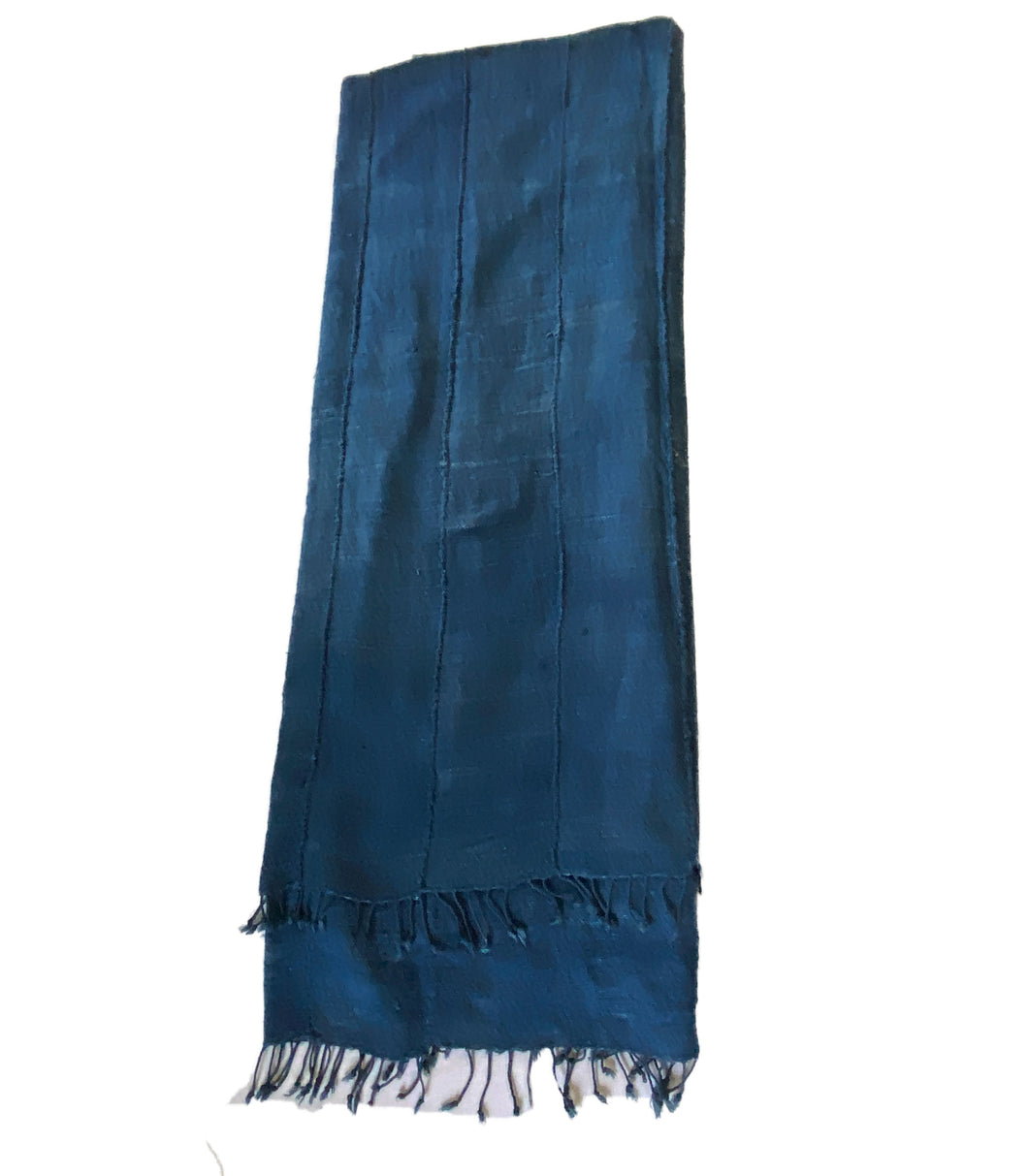 Plain Cotton Indigo Cloth - Mossi Tribe Burkina Faso