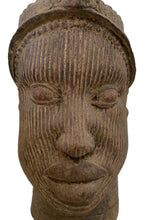 "Load image into Gallery viewer, Large Ife Clay / Terracotta Crowned Head of Oni Yoruba Nigeria African 18 ""H"