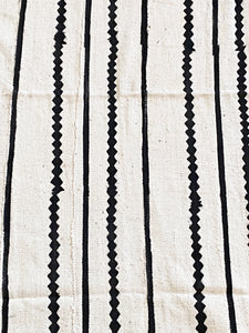 "Lg Black & White Mud Cloth Textile Mali 39.5"" by 67"""