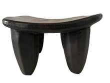 "Load image into Gallery viewer, African Old   Senufo Wood Milk Stool  I  . Coast 6.5"" H by 10.25"" W #3331"
