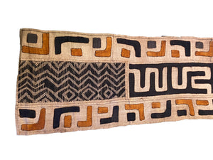 "Superb African Kuba Cloth Raffia /Textile Zaire 69"" by 14"""