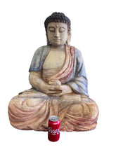 "Load image into Gallery viewer, Huge Wooden Medicine Buddha 30"" H"