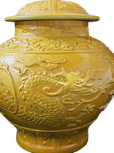 Load image into Gallery viewer, Famille Jaune Imperial Yellow Dragon Ginger Jar
