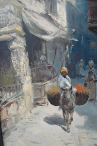 Superb Orientalist school 19th / 20th century Oil on canvas  Painting