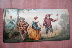 Superb Framed 18th / 19th French Limoges 3 enamels miniatures plaques paintings