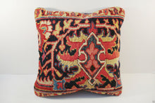 "Load image into Gallery viewer, Superb circa 1900 Antique Heriz Fragment Pillow 16"" by 17"""
