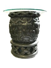 Load image into Gallery viewer, African Bamileke Side Table W /Glass Top Cameroon.
