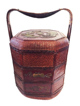 Load image into Gallery viewer, #801 Antique Chinoiserie Three Tiered Wedding Basket .