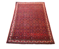 Antique Fereghan Rug 6.4' by 4.75'