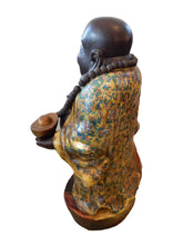 "Load image into Gallery viewer, Famille Jaune Porcelain Happy/Laughing Buddha 30"" H"