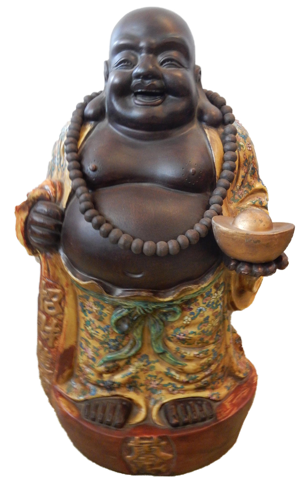 Famille Jaune Porcelain Happy/Laughing Buddha 30
