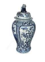 "Load image into Gallery viewer, Mansion Size Chinoiserie Blue & White Porcelain Ginger Jar 35.5"" H"