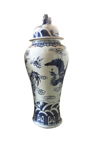 "Mansion Size Chinoiserie Ginger Jar 45"" H"