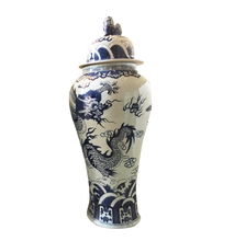 "Load image into Gallery viewer, Mansion Size Chinoiserie Ginger Jar 45"" H"