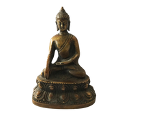 "Load image into Gallery viewer, #685 Old Bronze Earth Touching Buddha 4"" H"