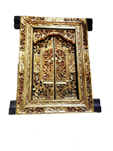 #w18 Old Gilt Wood Wall Decor/ Window/Shrine