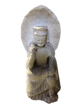 Load image into Gallery viewer, Old Hand-Chiseled Marble Buddha