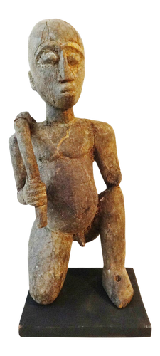 Stunning Old Lobi Shrine Male  Figure Bateba 17 inch   African Burkina Faso