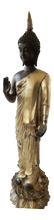 "Load image into Gallery viewer, Vintage Bronze Standing Buddha 27.5"" H"