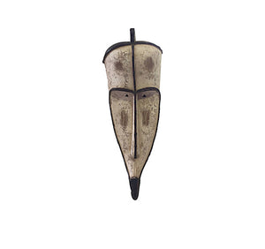 "Lg Fang Mask Elongated Face Gabon African Mask 28"" H"