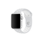 Bracelet sport silicone blanc pour Apple Watch version 42mm