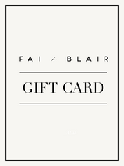Fai and Blair Gift Card
