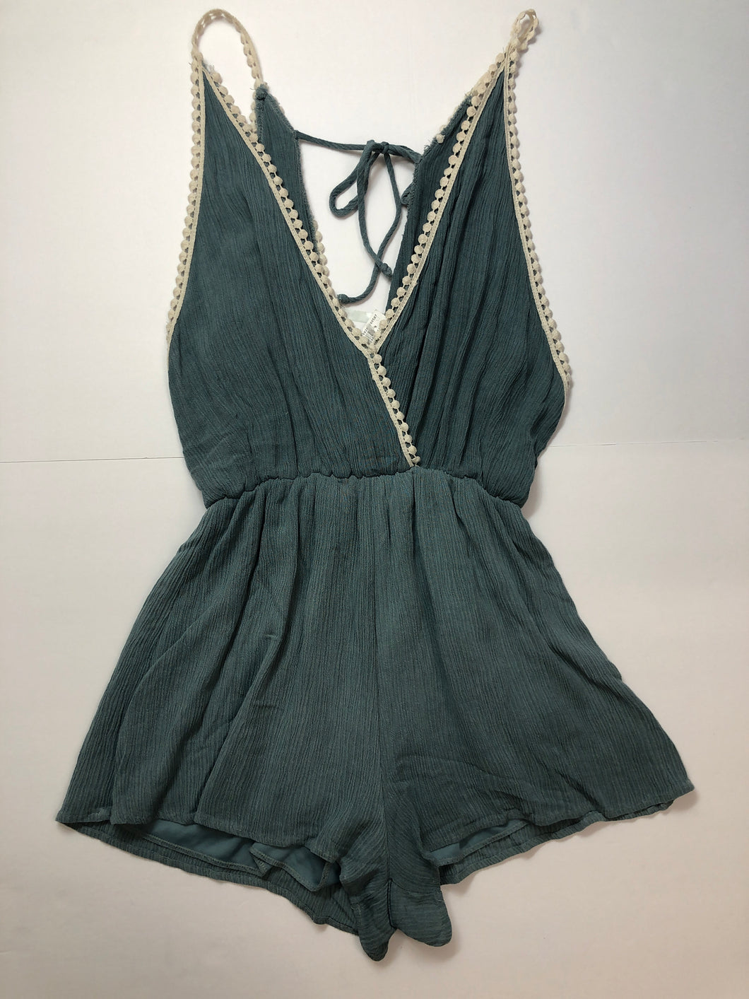 Gently Used Women's Sage Romper Size M