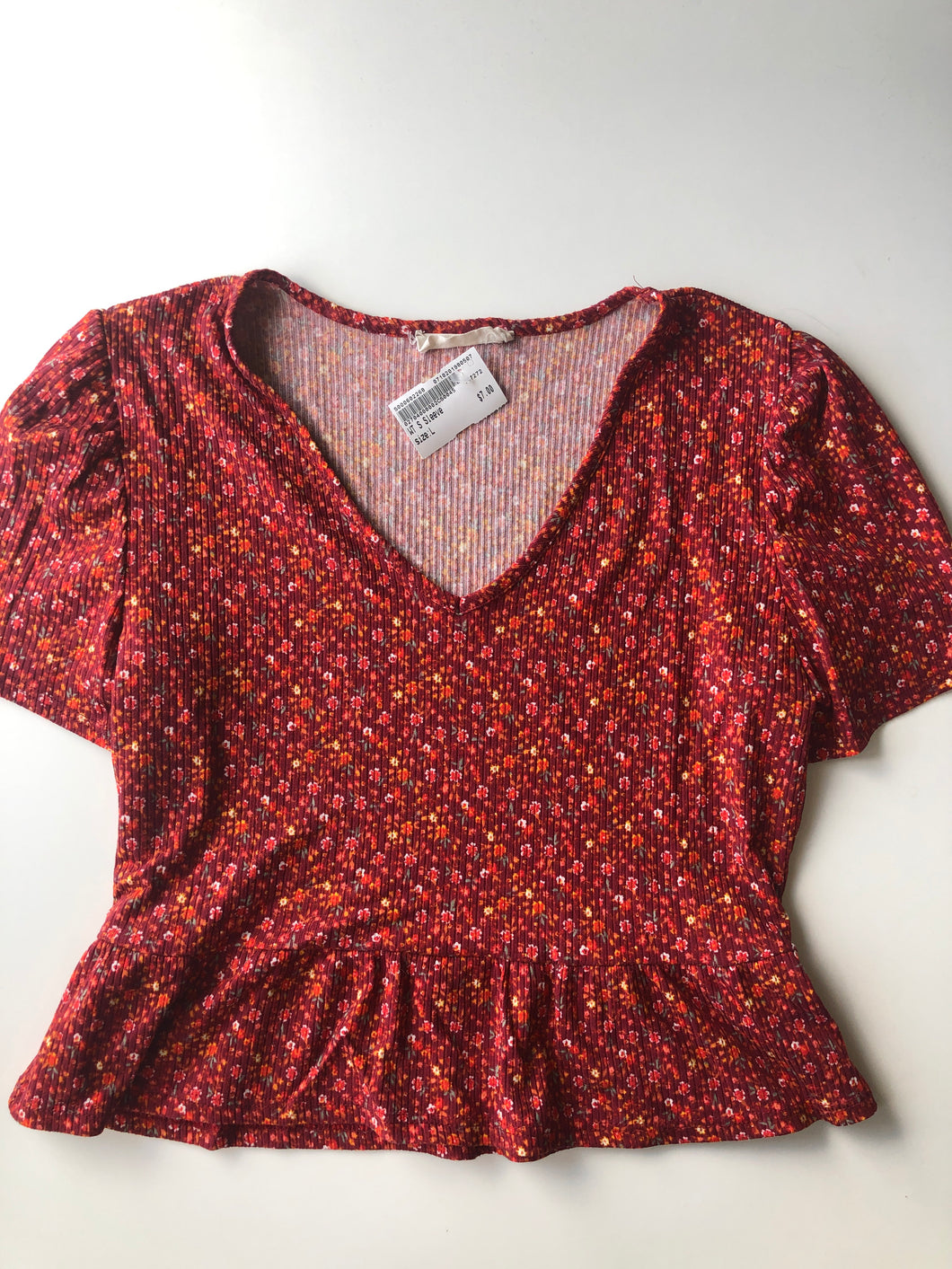 Gently Used Women's Poison Ivy Top Size L