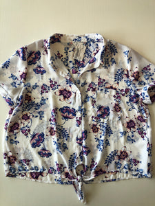 Gently Used Women's Pink Rose Top Size M