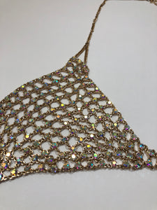 Gently Used Women's Beaded Bralette