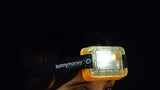 SM100 solar light worn on the head in the dark
