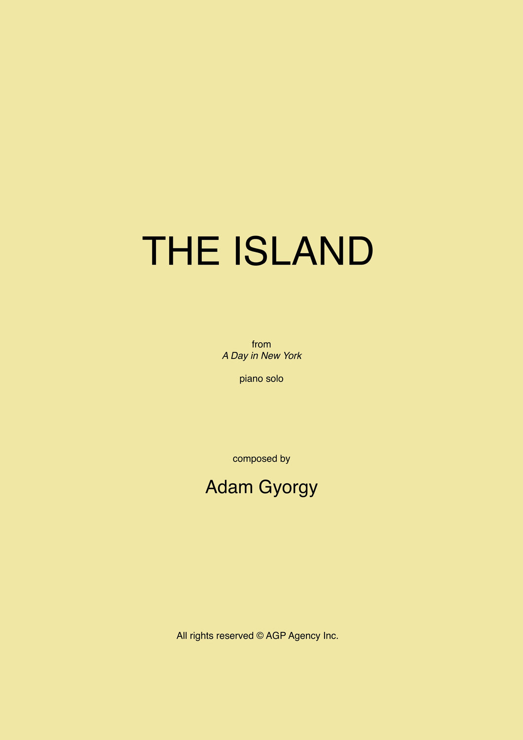 The Island - Sheet music