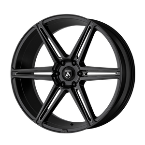 ASANTI BLACK ALPHA 6 GLOSS BLACK MILLED