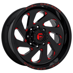 FUEL 1PC VORTEX GLOSS BLACK RED TINTED CLEAR