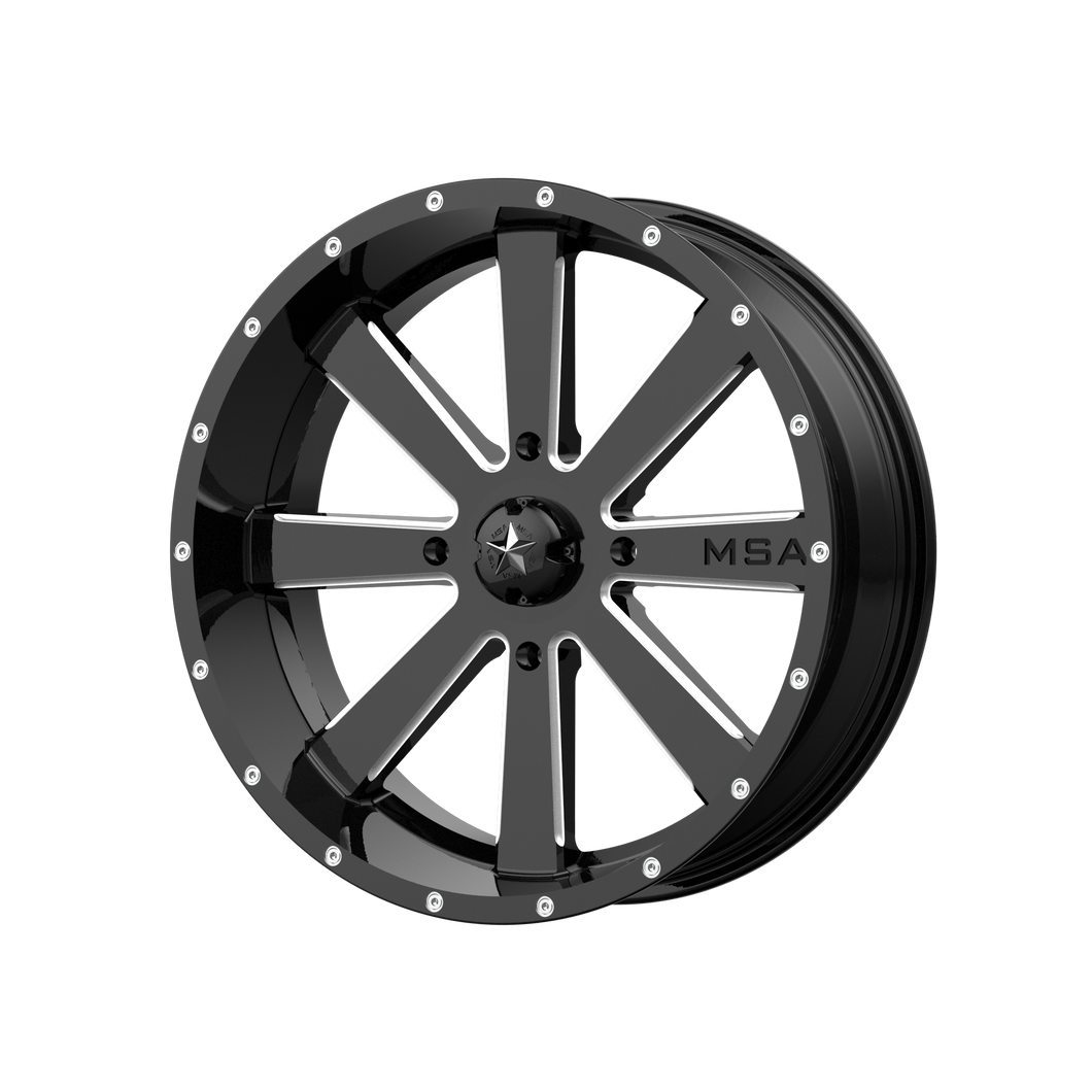MSA OFFROAD WHEELS FLASH GLOSS BLACK MILLED