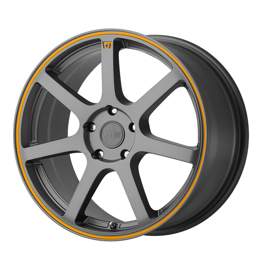 MOTEGI MR132 MATTE GRAY W/ ORANGE STRIPE