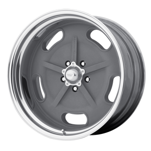 AMERICAN RACING SALT FLAT SPECIAL MAG GRAY W/ CENTER POLISHED BARREL