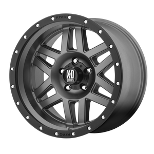 XD SERIES BY KMC WHEELS MACHETE MATTE GRAY W/ BLACK RING