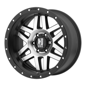 XD SERIES BY KMC WHEELS MACHETE MACHINED FACE W/ BLACK RING