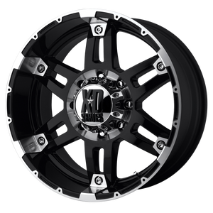 XD SERIES BY KMC WHEELS SPY GLOSS BLACK MACHINED
