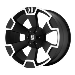 XD SERIES BY KMC WHEELS THUMP MATTE BLACK MACHINED