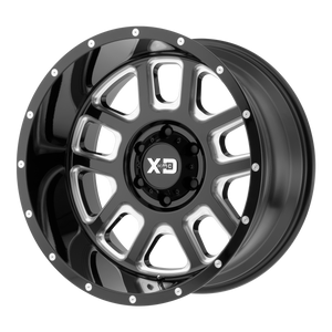 XD SERIES BY KMC WHEELS DELTA GLOSS BLACK MILLED