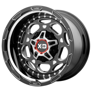 XD SERIES BY KMC WHEELS DEMODOG GLOSS BLACK MILLED