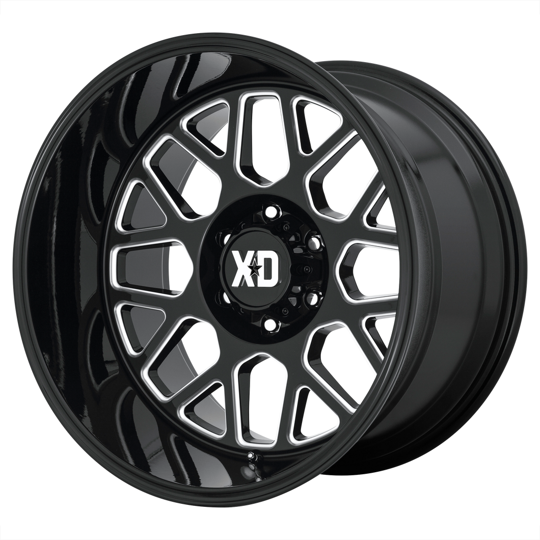 XD SERIES BY KMC WHEELS GRENADE 2 GLOSS BLACK MILLED