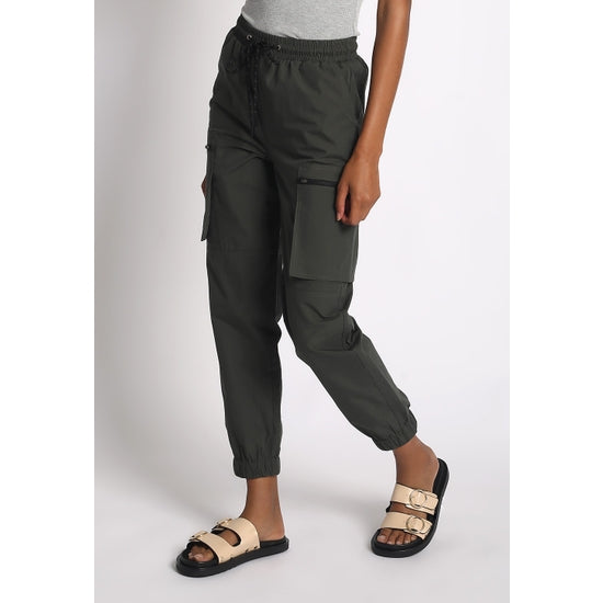 High-Waisted Cargo Joggers - hokiis