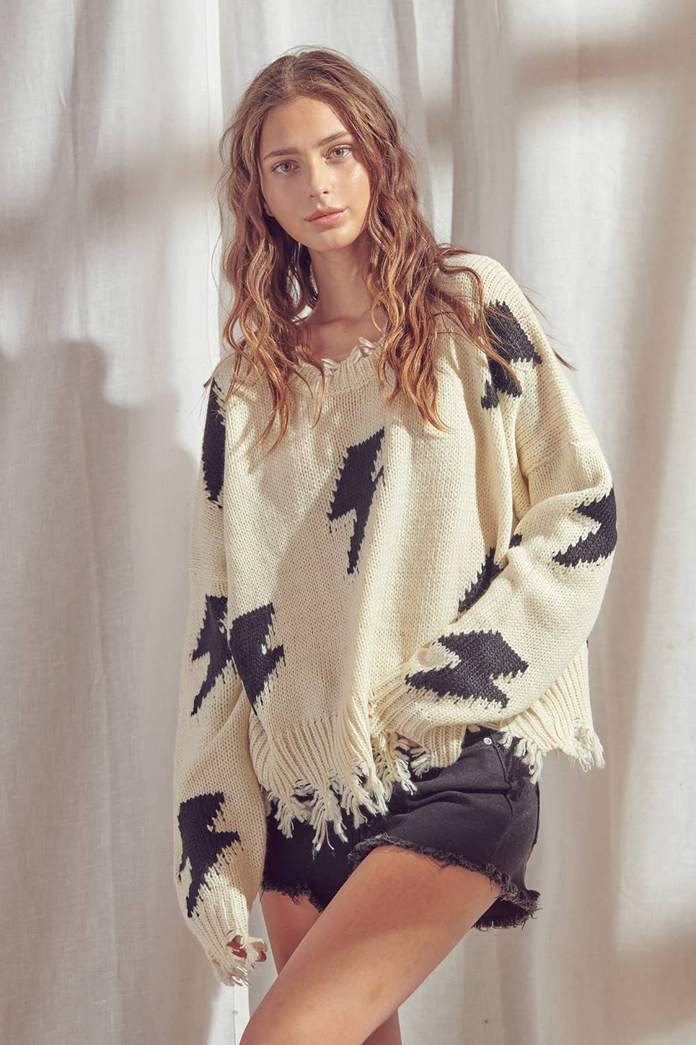 Lightning Bolt Knit Sweater - hokiis