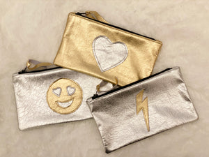 Leather Heart Eyes Pouch - hokiis